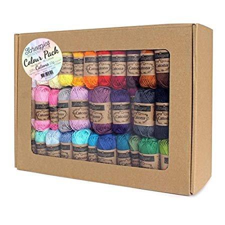 Scheepjes Catona Colour Pack (109 x 10g balls)