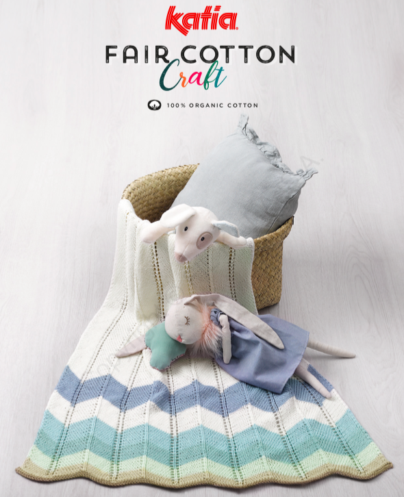 Katia Baby Fair Cotton Craft Blanket FREE Pattern - Digital Download