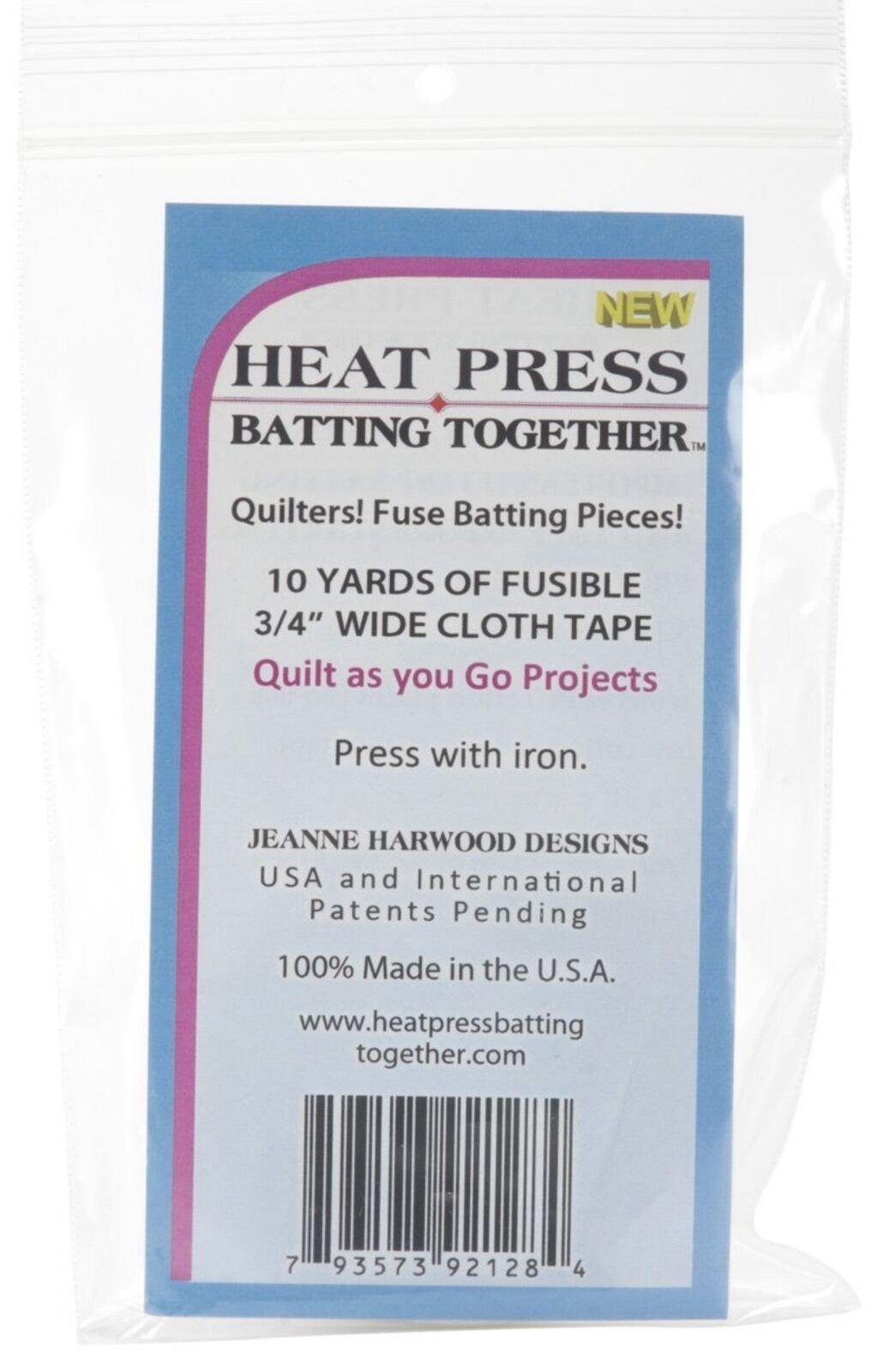 Heat Press Batting Together -  Batting/Wadding Tape