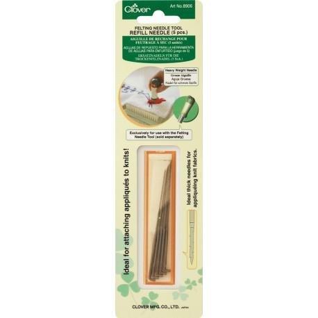 Clover Felting Needle 5 x Refill Needles (heavy weight)
