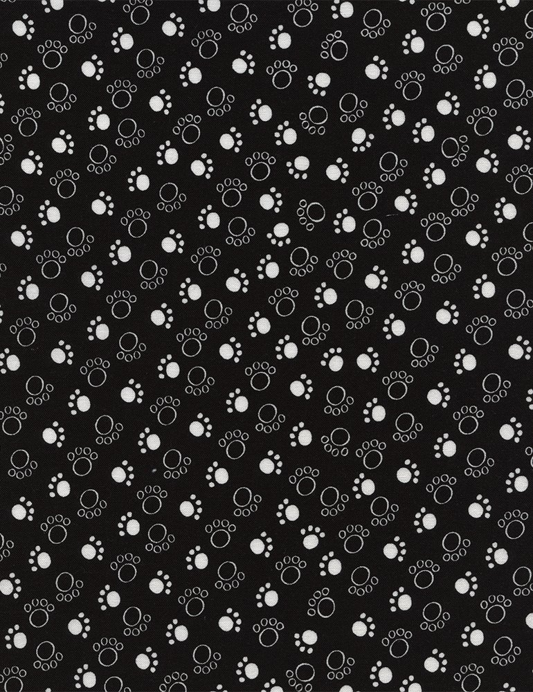 Scribble Dogs: Dog C4673 Black by Timeless Treasures