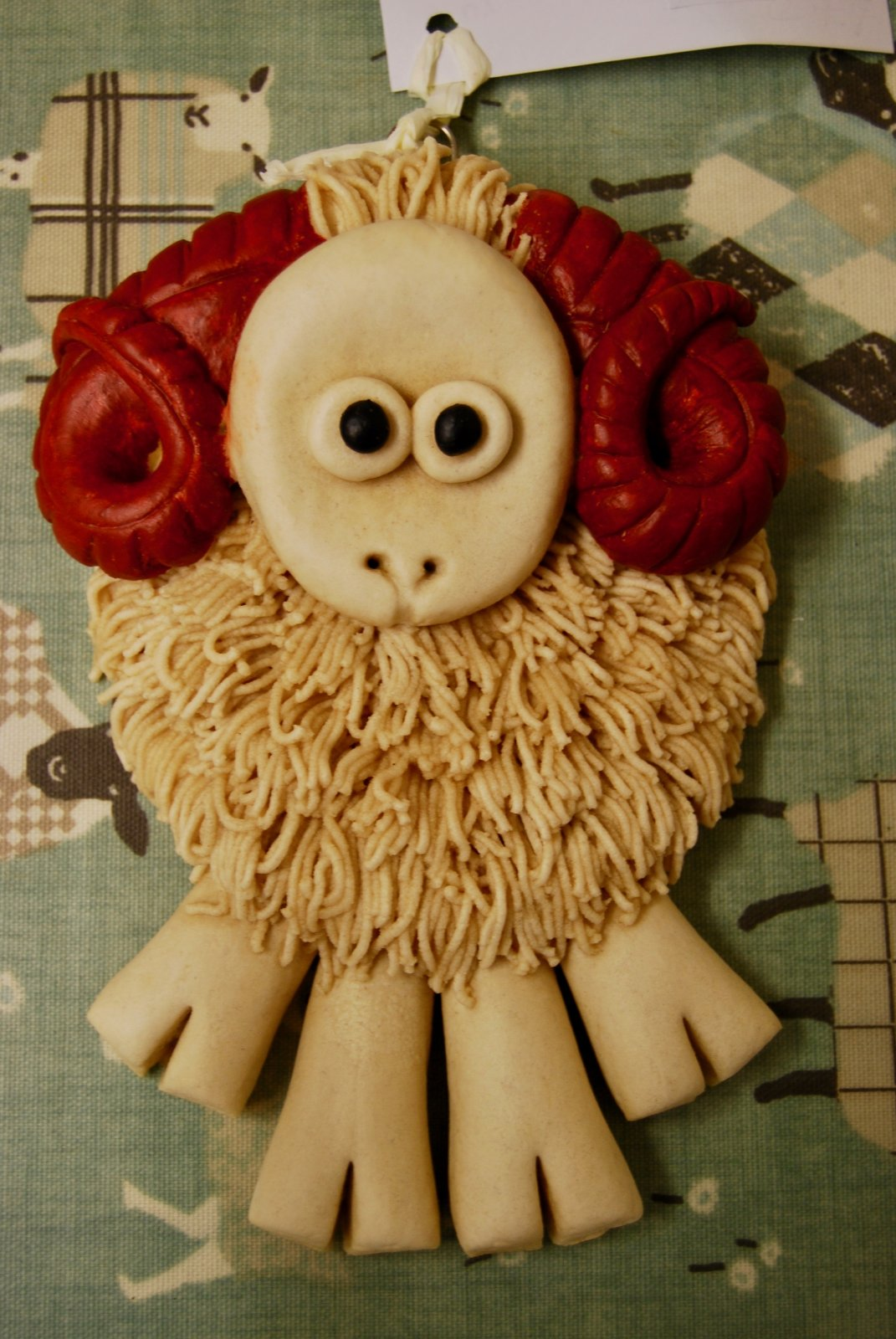Salt Dough Sheep by Okaye Dough K