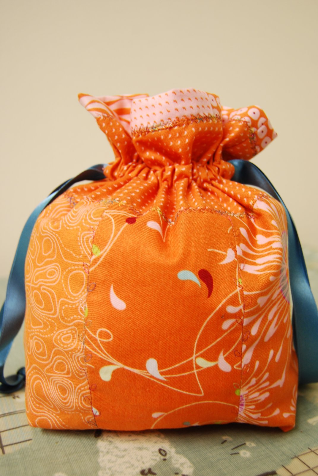 'Oranges' Project Bag - Made by Kerry for The Woolpatch