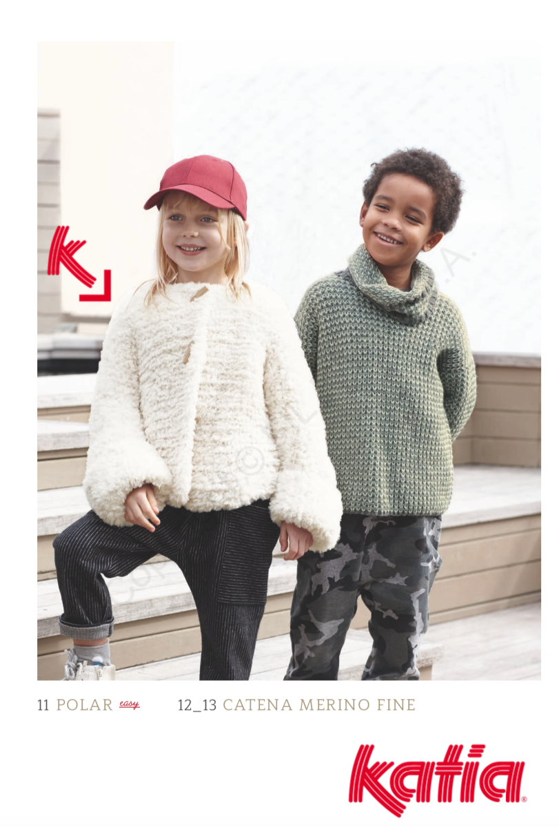 36df28844 Katia Polar Pattern 11 Childs Jacket - Digital Download