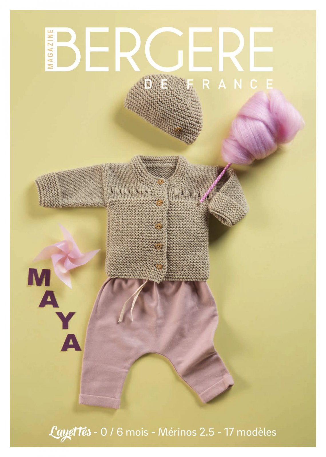 Pattern Magazine No01 - New borns 1 to 6 months by Bergere de France