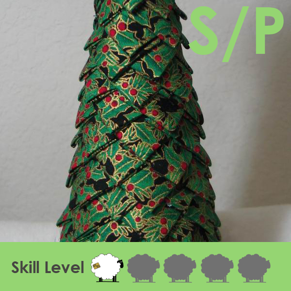 no sew folded fabric christmas tree table decoration