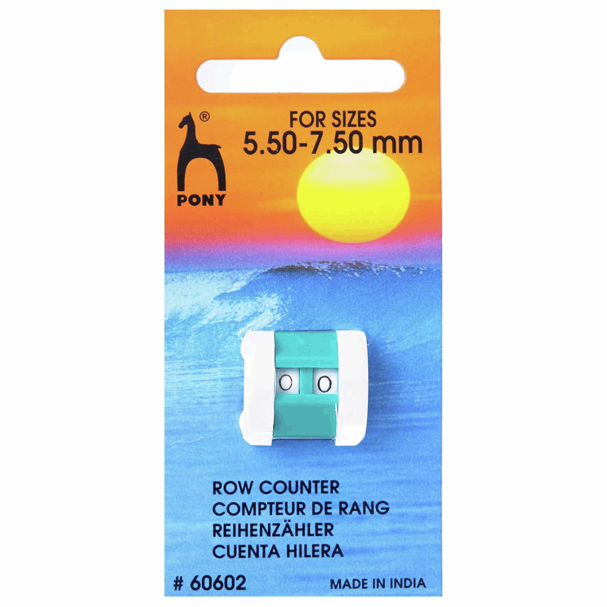 Pony Knitting Row Counter (size 5.50 - 7.50mm)