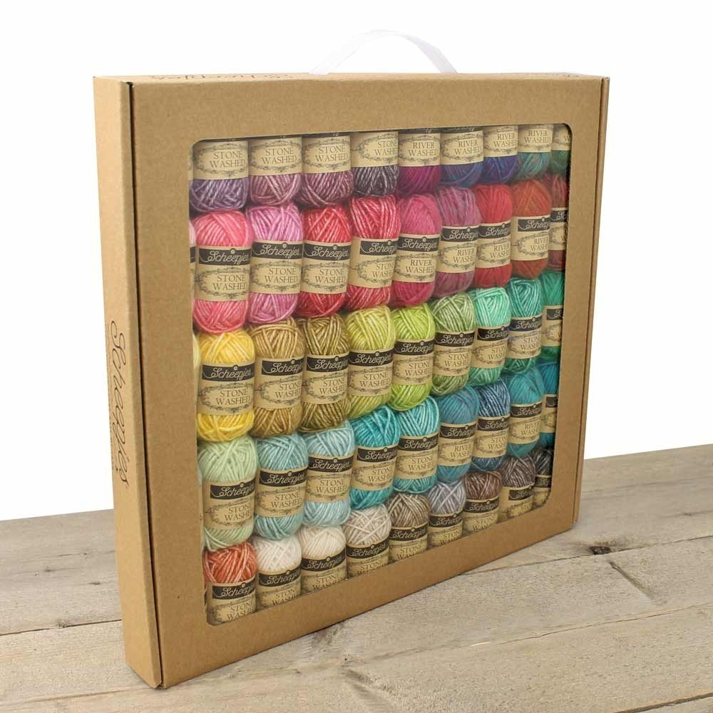 Scheepjes Stone Washed & River Washed Colour Pack (50 x 10g balls)