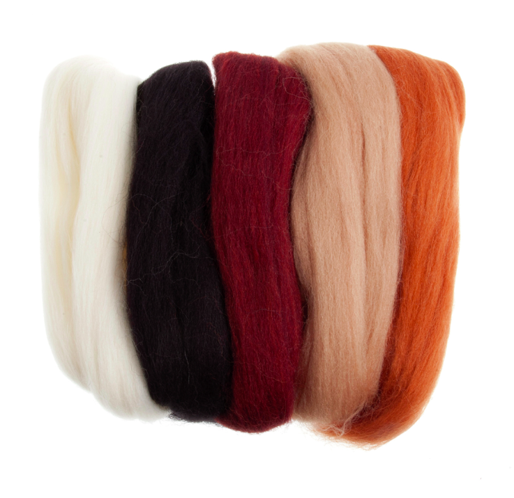 Trimits Natural Roving Wool 50g Bag  - Ideal for Felting
