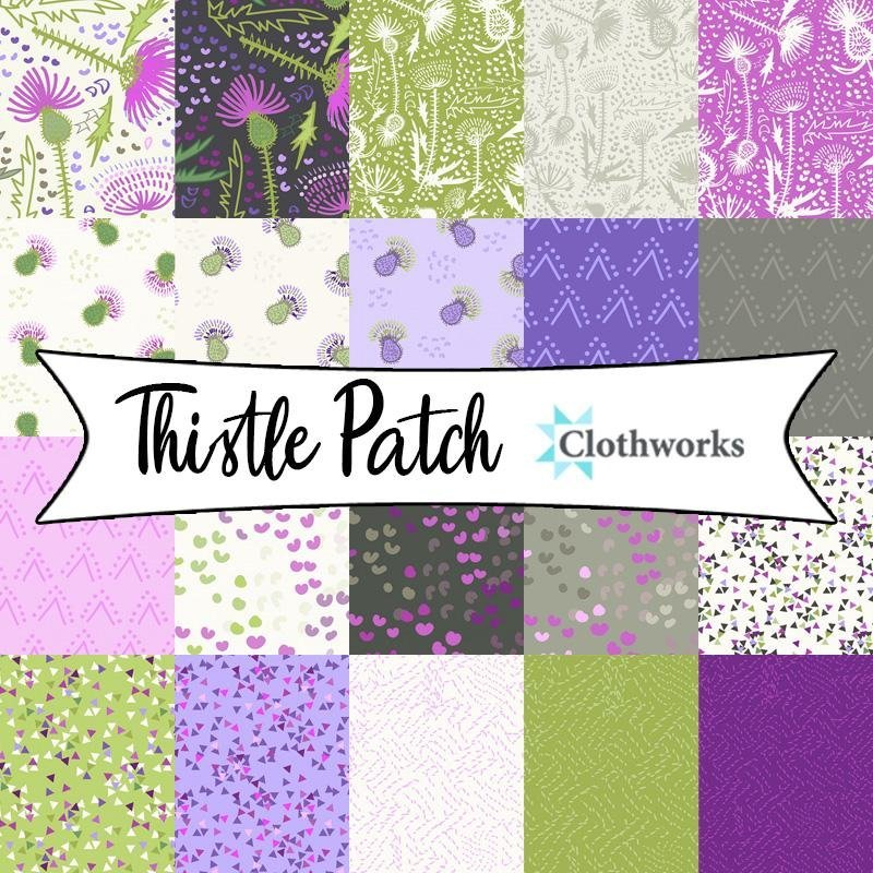 Thistle Patch 10in Squares pack (42pcs) by Clothworks