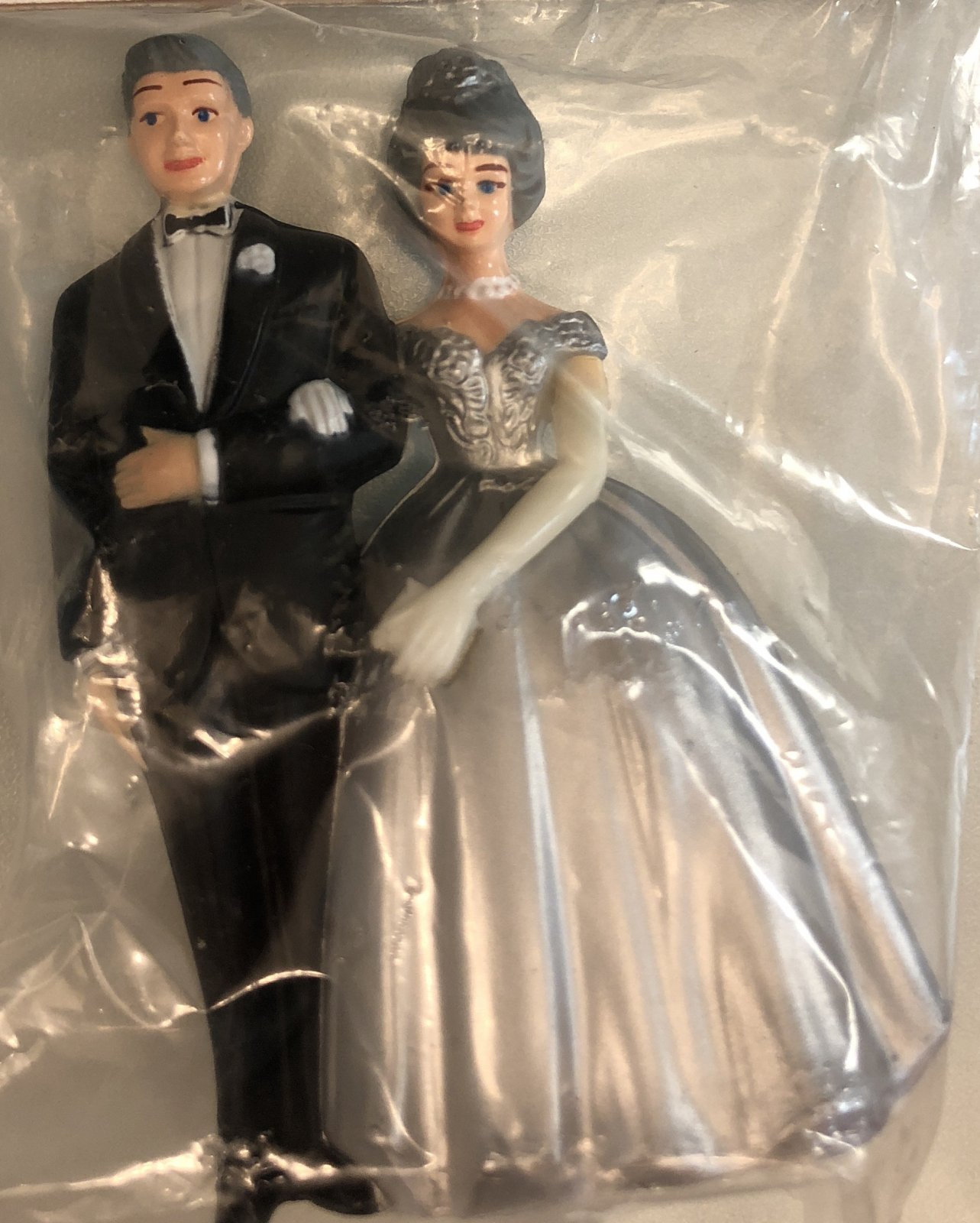 25th Anniversary Couple Vintage Grey Hair