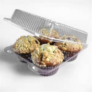 4 cupcake plastic box