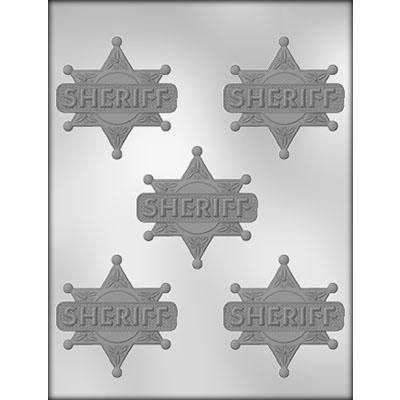 Sheriff Badge Chocolate Mold CK 90-14695