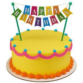 Happy Birthday Banner cake topper