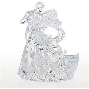Bianca Bride & Groom Clear Cake Topper