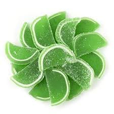Lime Jelly Fruit Slices 1/4 lb
