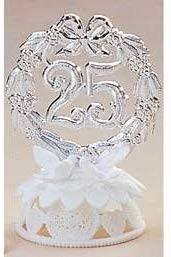 25th Anniversary  Petite Cake Topper