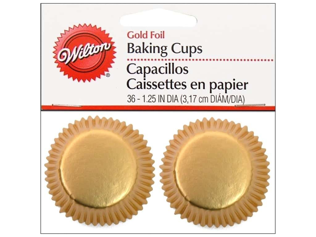 Mini baking cups gold 36ct