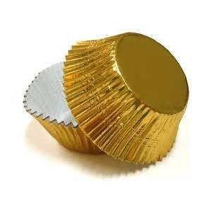 Gold Foil Baking Cups 30ct