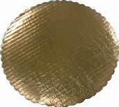 10 Gold Round Cake Cardboard dbl wall