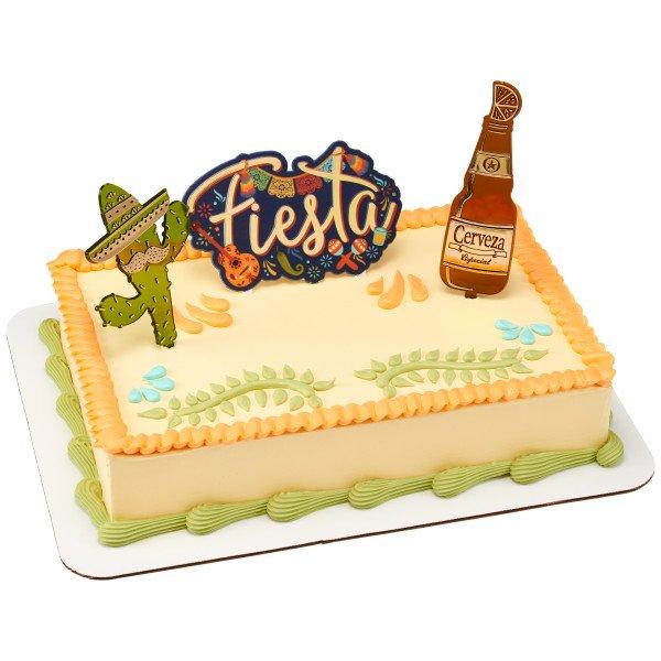 Fiesta Cerveza Cake Topper 3 pc set