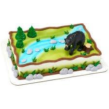 Wild Black Bear Cake Topper