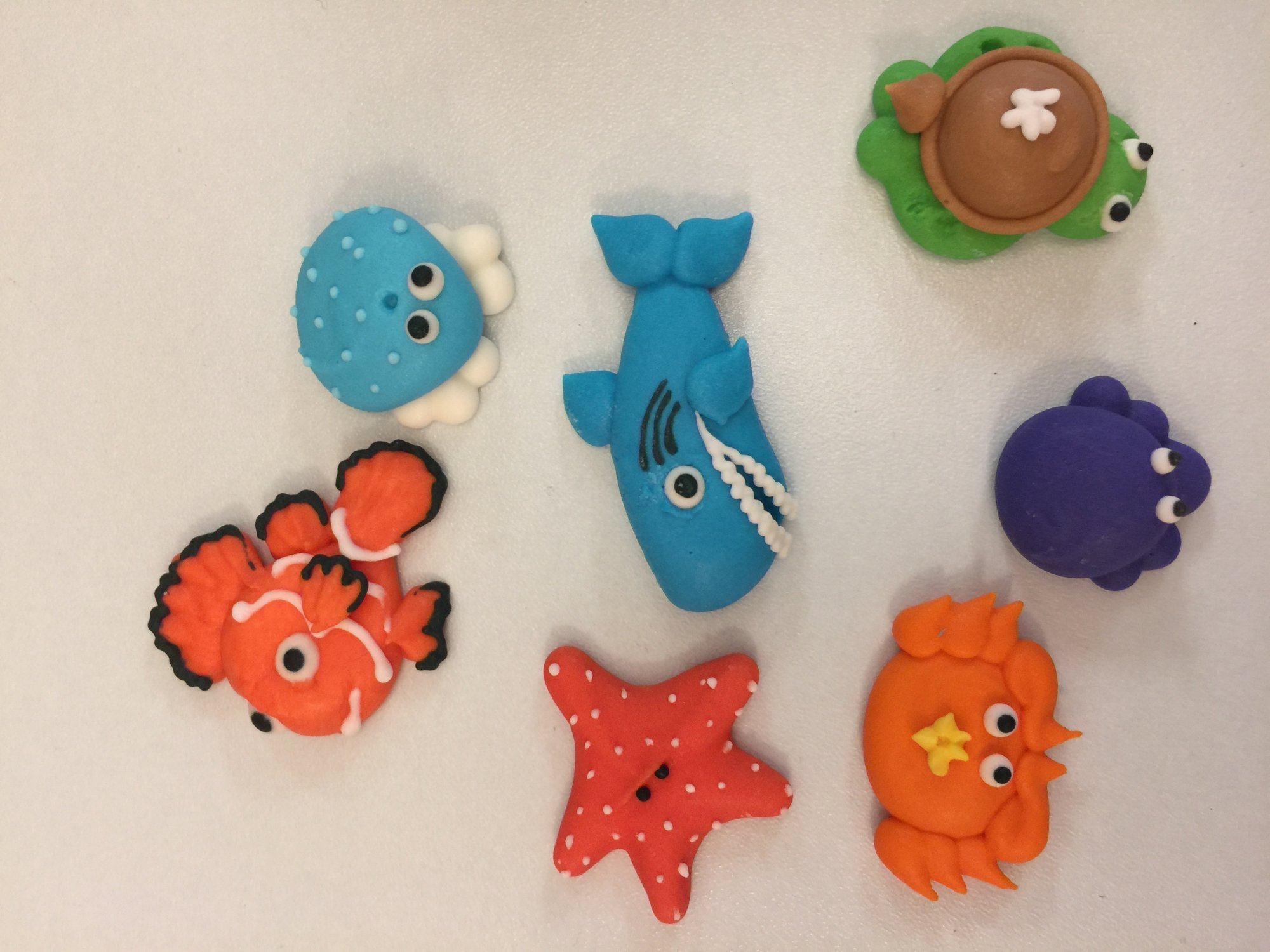 Sea Critters Asst. 7pc Royal Icing