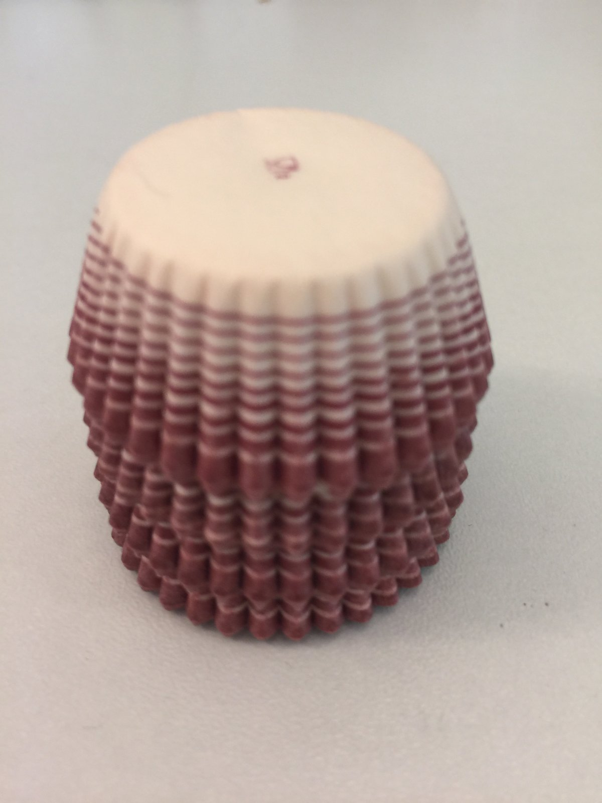 Burgundy Stripe 80ct candy cups