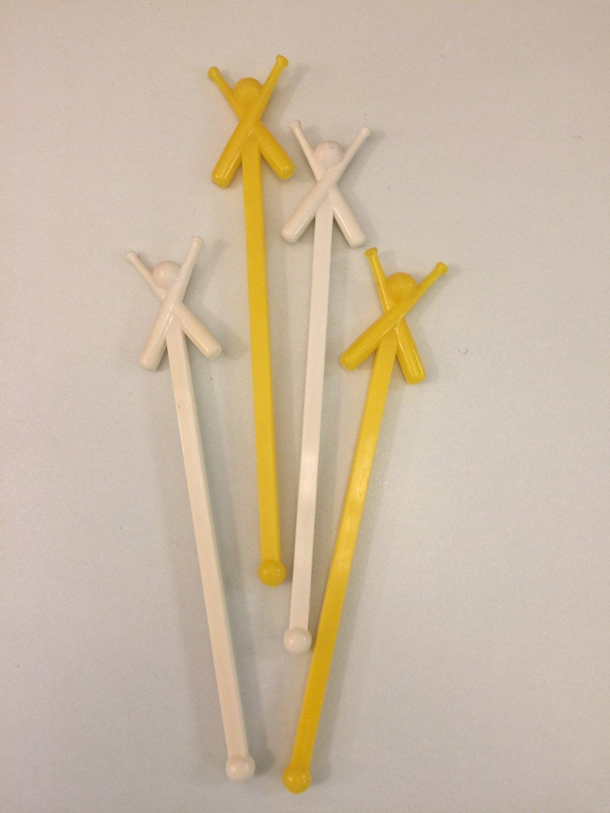 Baseball Stir/Sucker Sticks 14ct