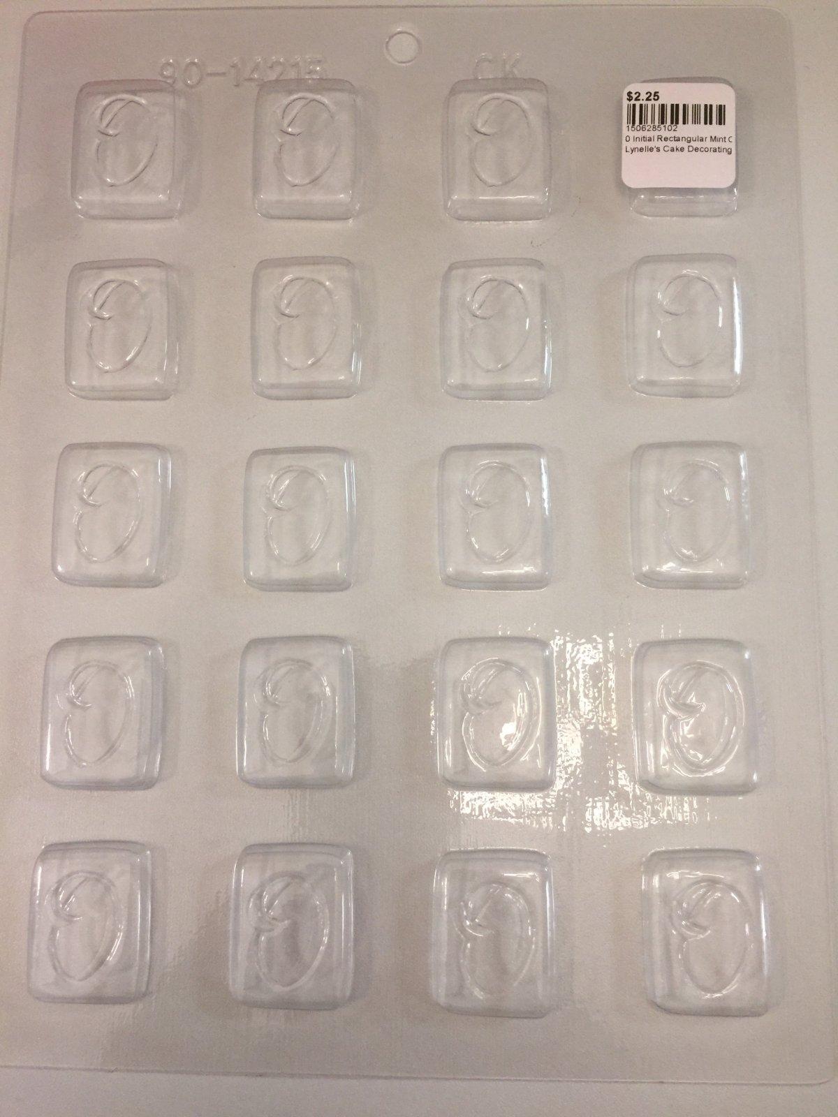 0 Initial Rectangular Mint Chocolate Mold CK 90-14215