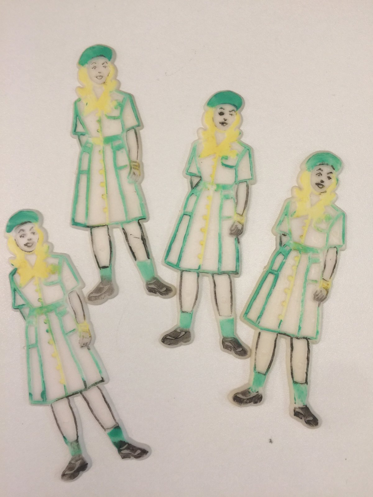 Girl Scout Cake Topper 4pc