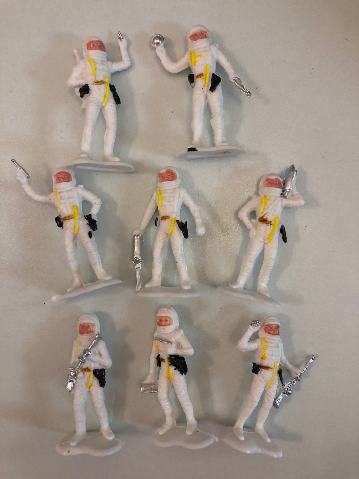 Astronauts Figurines 8 pc Cake Topper Set