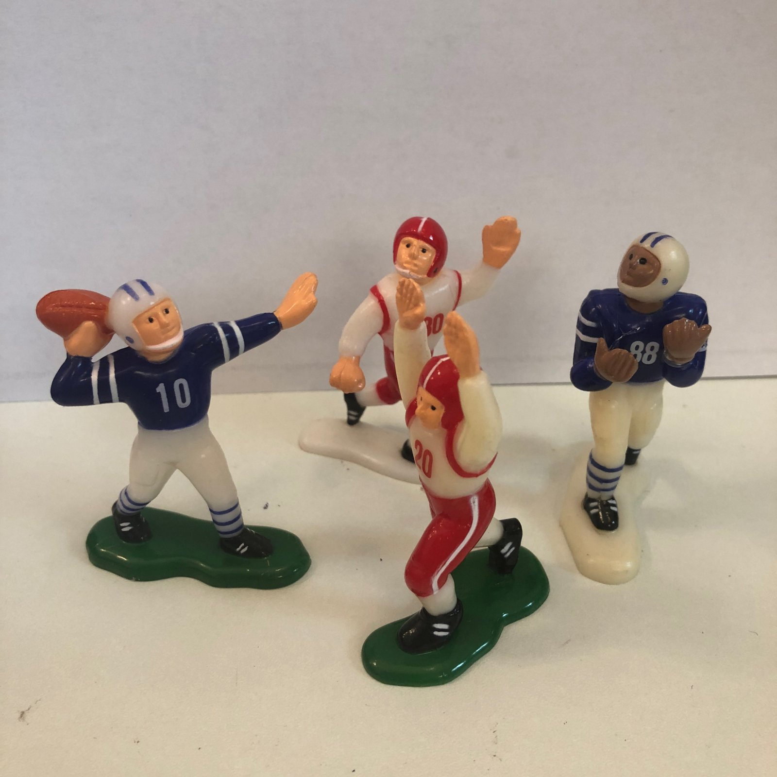 Football Players 4 pc set cake topper 3