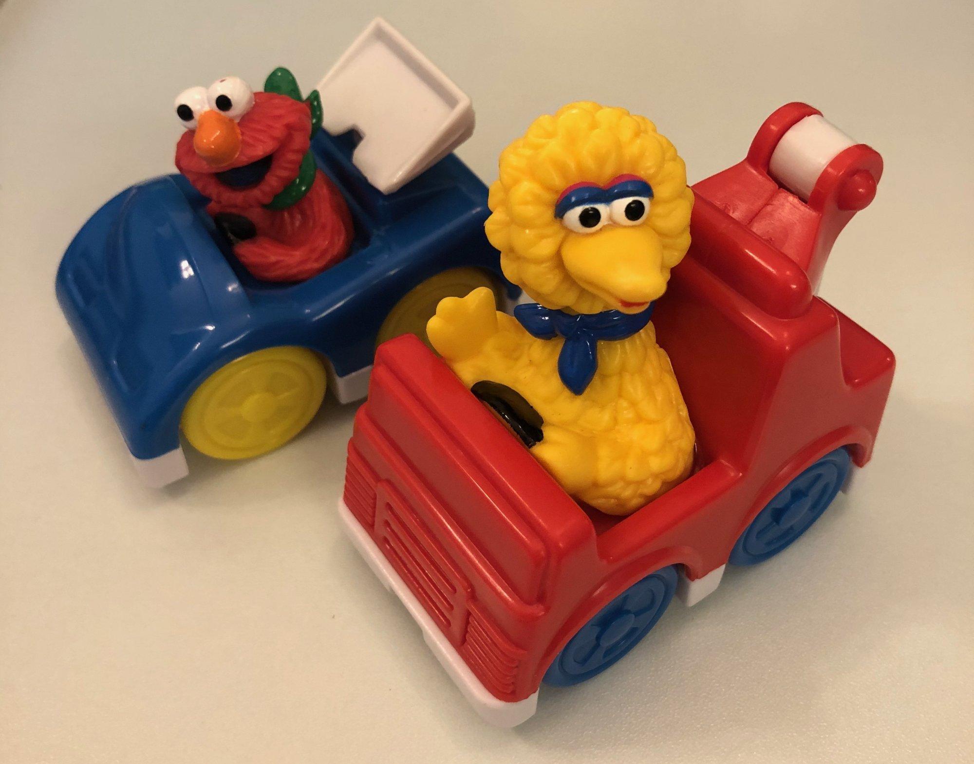 Elmo & Big Bird in Cars Cake Topper