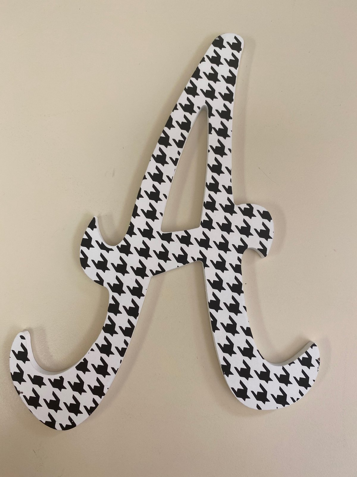 Alabama Crimson Tide A Cake Topper Houndstooth Print  10 Tall