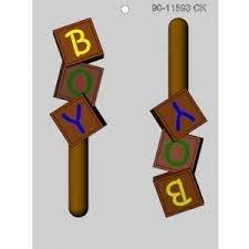 Boy Blocks Chocolate Mold CK 90-11593