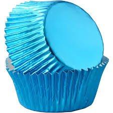 Blue Foil Baking Cups 30ct