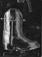 3D Cowboy Boot Chocolate Mold 2pc K075A &K075B