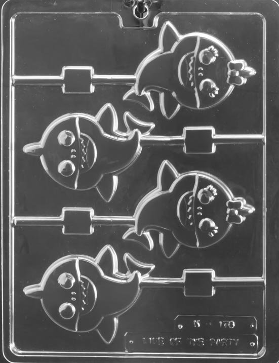 Baby Shark Sucker Chocolate Mold  3 3/4