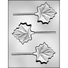 3 Maple Fall Leaf Sucker Chocolate Mold  Ck 90-13110