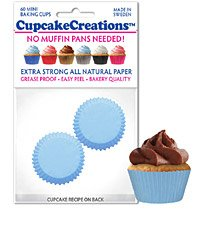 Mini Light Blue Cupcake / Muffin Liners 60 piece