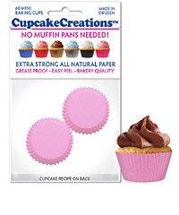 Mini Pink Cupcake / Muffin Liners 60 piece