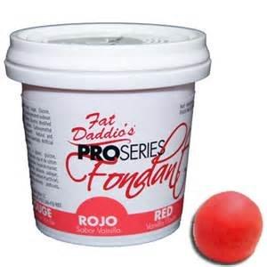 Fat Daddio's fondant Red 8oz