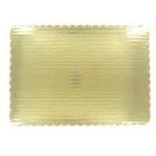 1/4 sheet cake gold cardboard