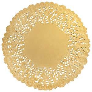 Doilies 14 1/2 Gold 3 count