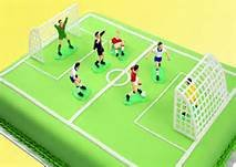 Soccer Players  cake topper  7 pc