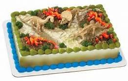 Dinosaur Skeletons cake topper