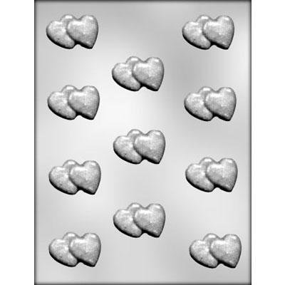 Double Heart Chocolate Mold CK 90-1015