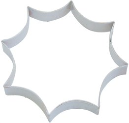 spider web 6 white poly resin coated