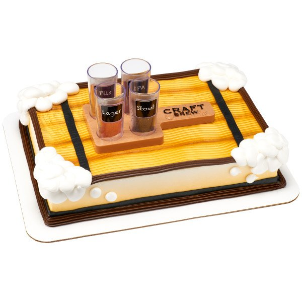 Craft Brew / Beer Flight Cake Topper